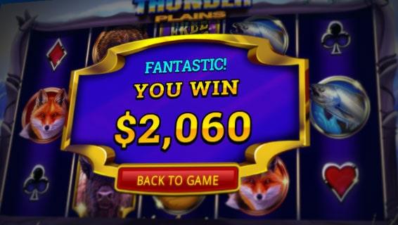 Thunder Plains Slot big win
