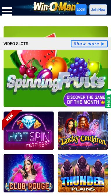 Winomania UK slot games