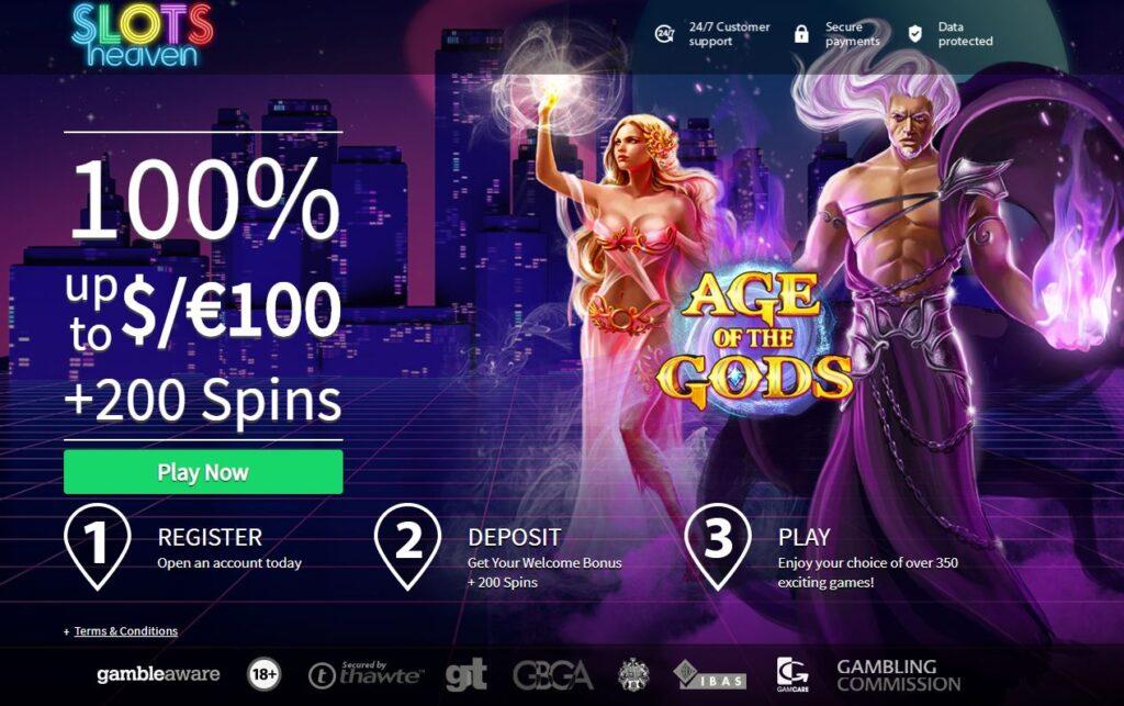 age of gods bingo bonuses free spins