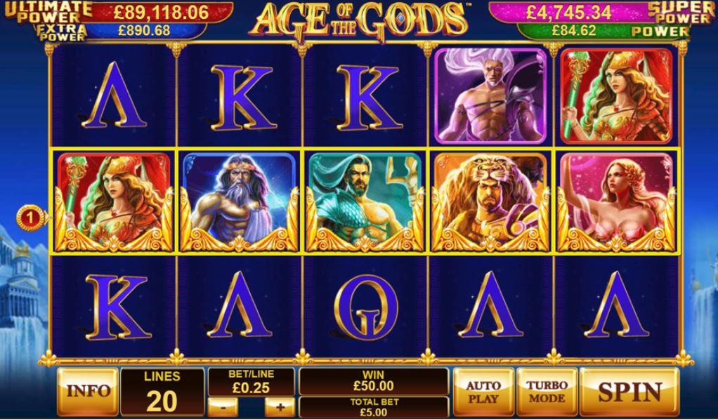 Age Of the Gods Bonus Win