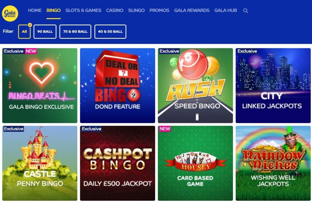 Bingo Games Gala Bingo