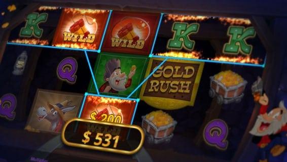 Gold Rush Slot WILD Symbols.