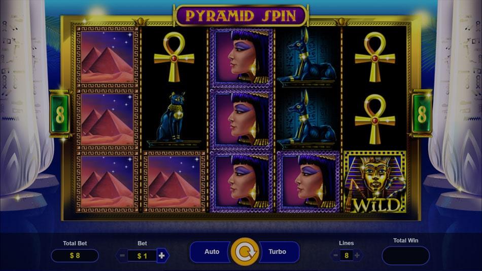 pyramid spin slot gameplay