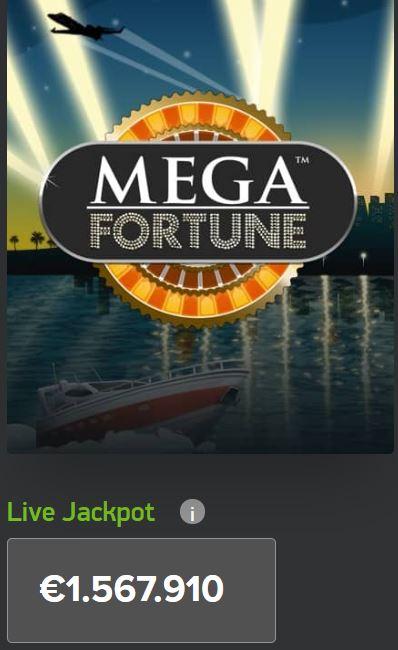Mega Fortune Latest Live Jackpot