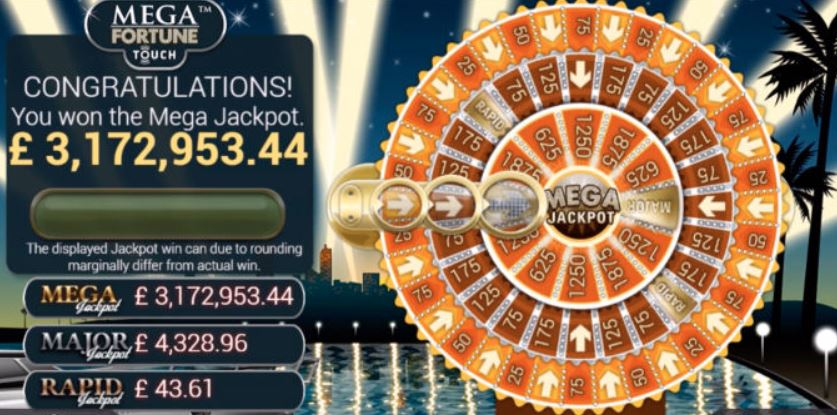 Mega Fortune Huge Progressive Jackpot