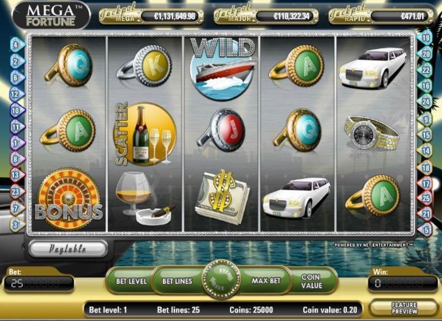Mega Fortune Slot Gameplay