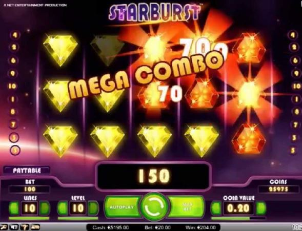 Starburst Slot Mega Combo Win