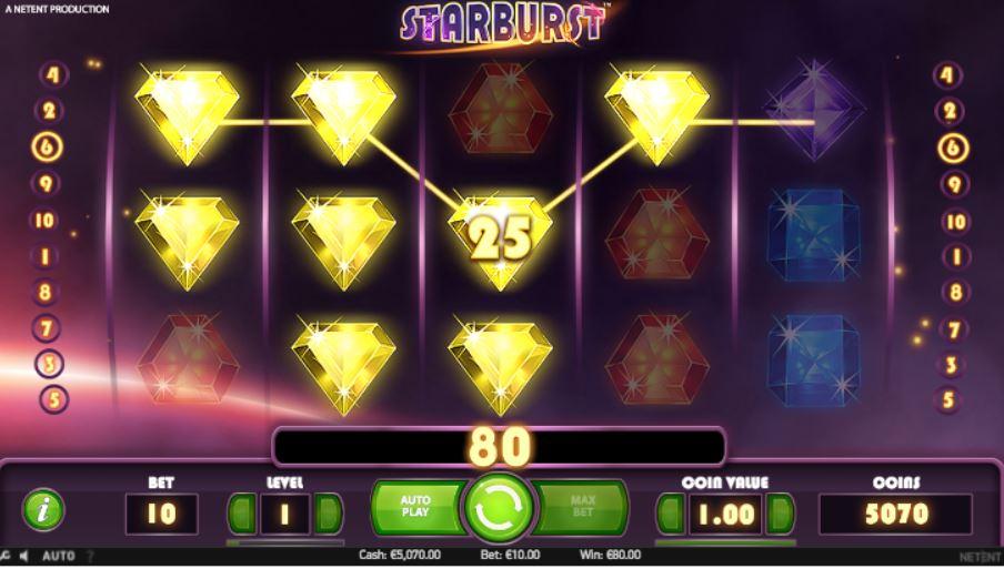 Starburst WILD Bonus Win