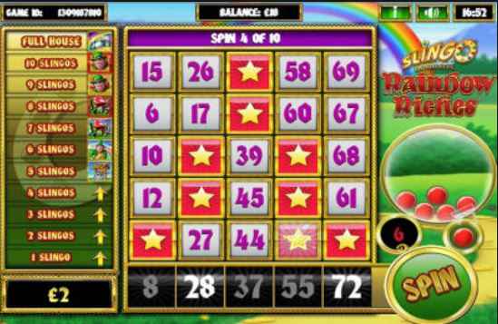 Rainbow Riches Slingo Gameplay
