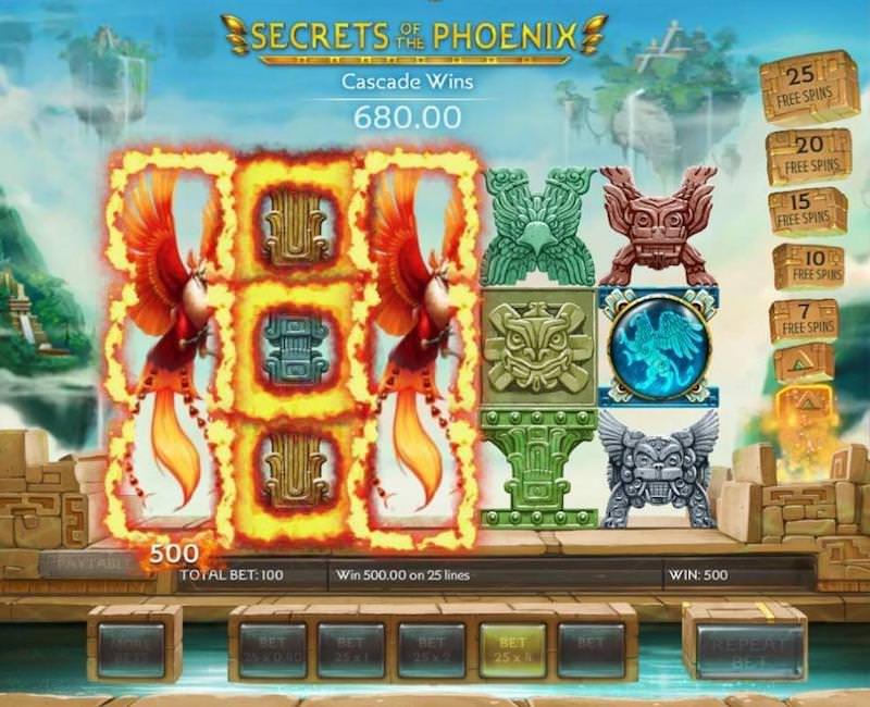 secrets of the phoenix slot gameplay
