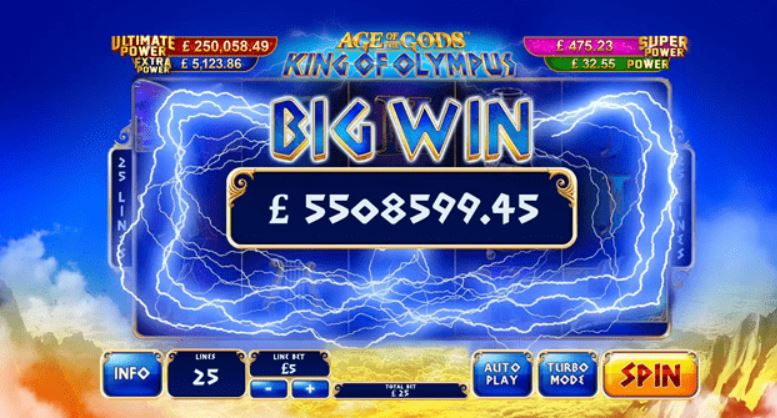 Age Of Gods Slot Win - King of Olympus