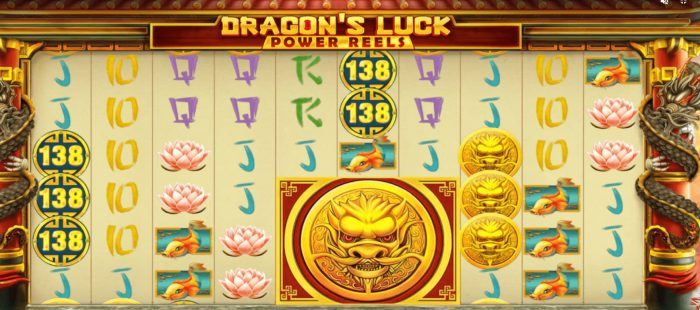 Dragon's Luck Slot Reels Win Bonus UK