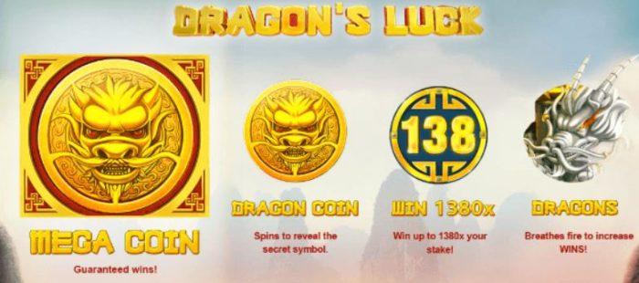 Dragons Luck Jackpot Bonus Symbols